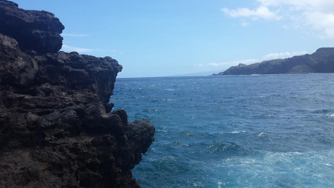 Felsen im Pazifik