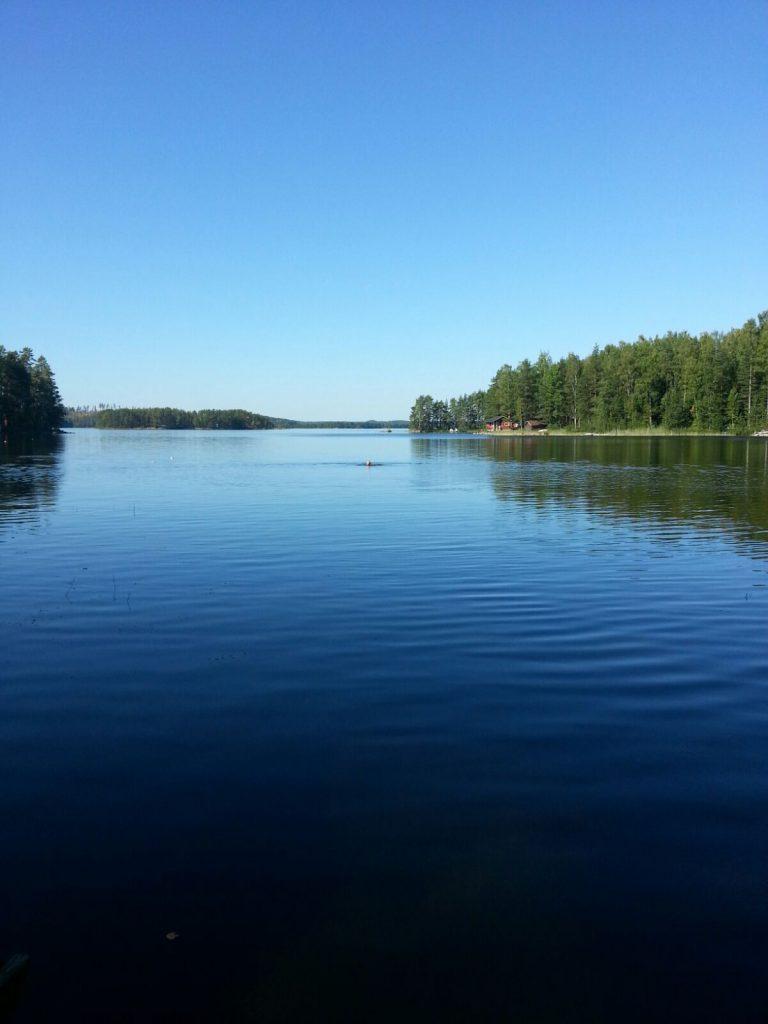 Vouhijärvi Bucht an unserem Sommerhaus in Finnland