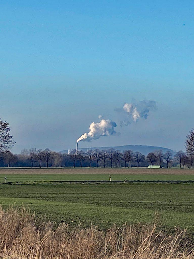 Qualm aus einer Zuckerrübenfabrik in Emmercke 2019/2020
