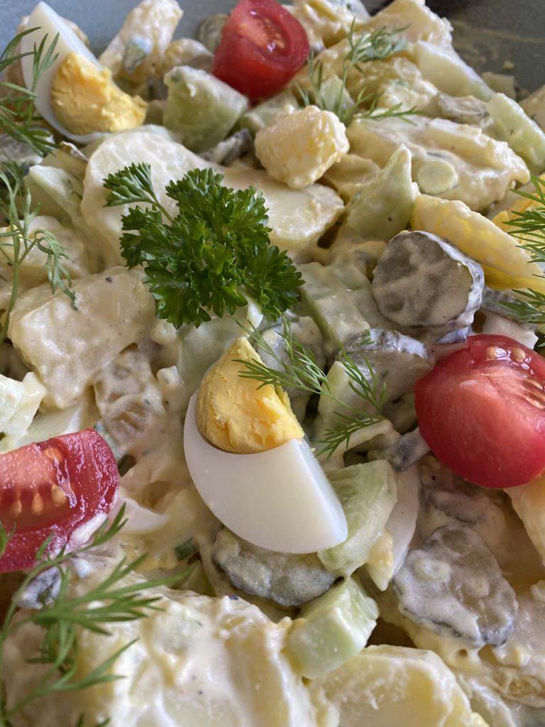 Sommerlich leichter Kartoffelsalat