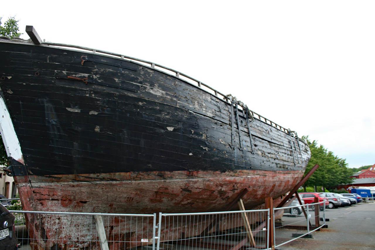 Schiff Ninive im hafen von Eckernförde