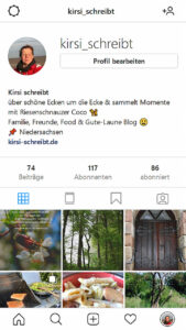 Kirsi schreibt bei Instagram