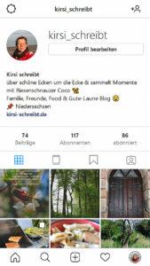 Kirsi schreibt bei Instagram