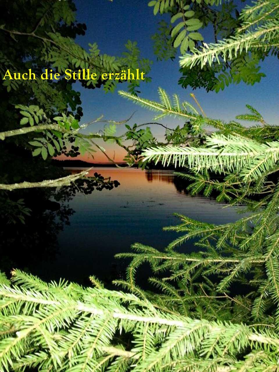 Hauskaa Juhannusta am finnischen See mit einem samischen Sprichwort