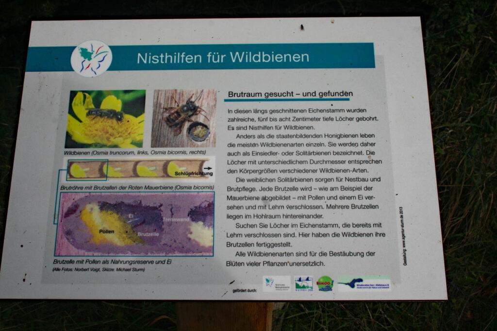 Schild für Wildbienen Nisthilfen
