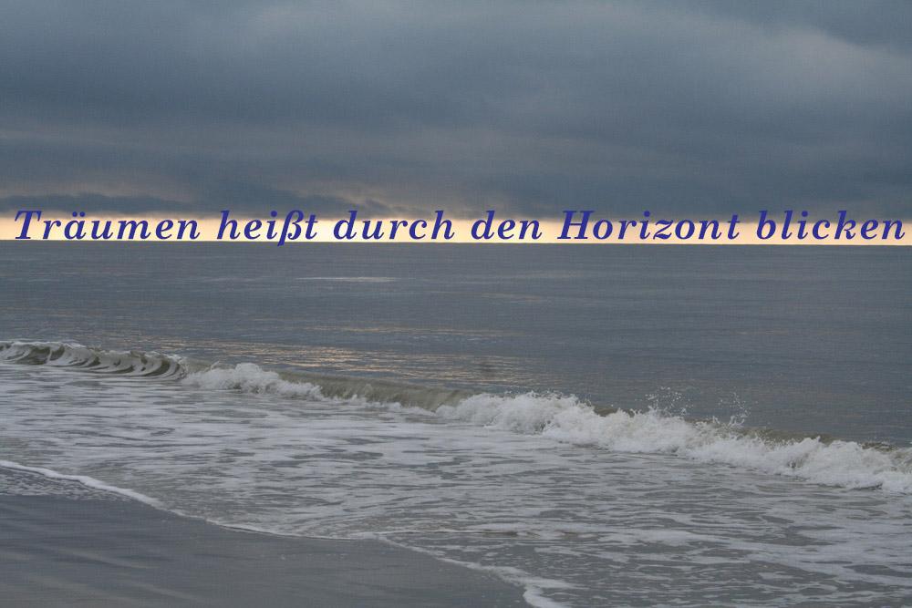Himmel und Meer Weite und Horizont