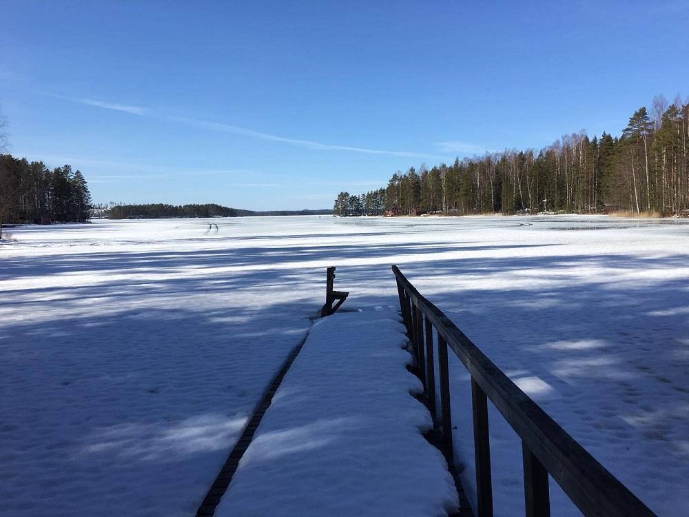Sommer und Winter am Vouhijärvi