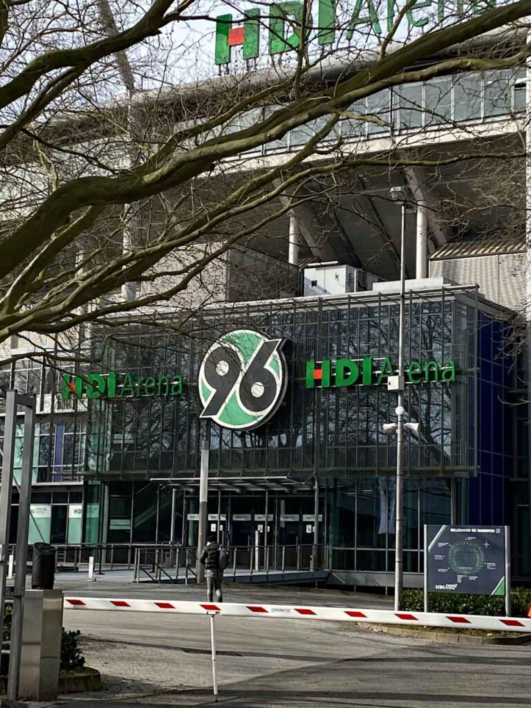 VIP Eingang HDI Arena in Hannover