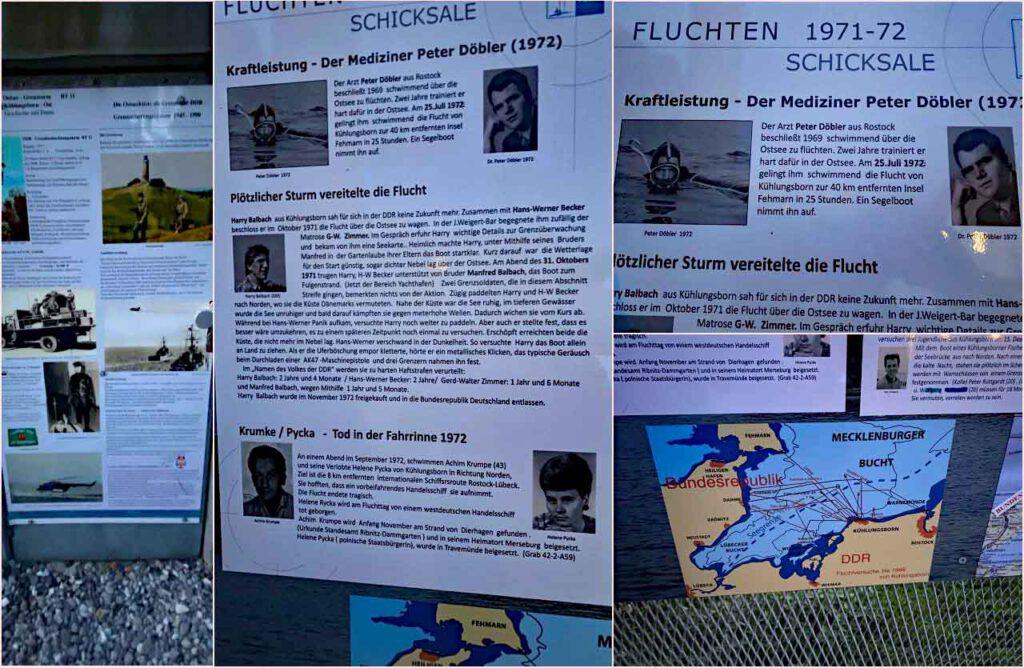 Ostsee Grenzturm Denkmal der Geschichte Collage